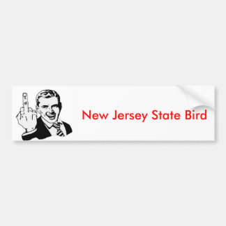 Pájaro de estado de New Jersey Pegatina Para Auto