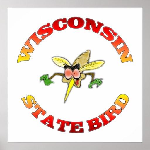 Pájaro de estado de Wisconsin Póster