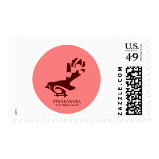 Pájaro de Faintail Nueva Zelanda Aotearoa Timbre Postal