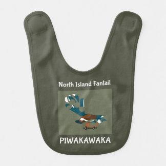 Pájaro de Faintail Nueva Zelanda Aotearoa Baberos De Bebé
