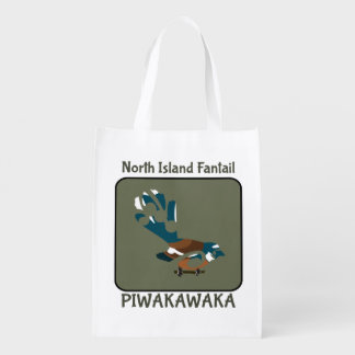 Pájaro de Faintail Nueva Zelanda Bolsa Reutilizable