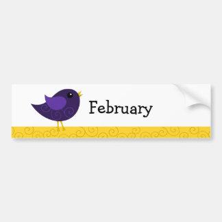 Pájaro de febrero Birthstone Pegatina Para Auto