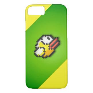 Pájaro de Flappy - fondo verde/amarillo tóxico HD Funda iPhone 7