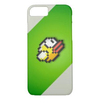 Pájaro de Flappy - fondo verde/gris tóxico HD VI Funda iPhone 7