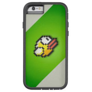 Pájaro de Flappy - fondo verde/gris tóxico HD VI Funda Tough Xtreme iPhone 6