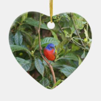 Pájaro de golpe ligero pintado colorido adorno de reyes
