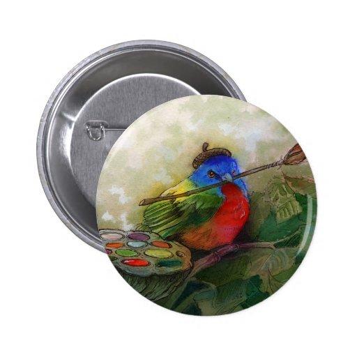 Pájaro de golpe ligero pintado pintor pin