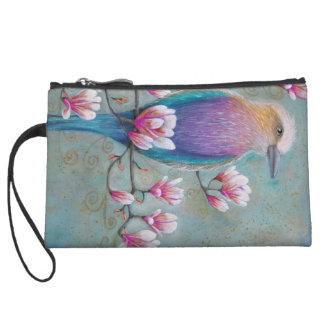 Pájaro de Holi del indio en bolso de la magnolia