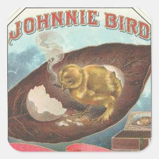 Pájaro de Johnnie Pegatina Cuadrada