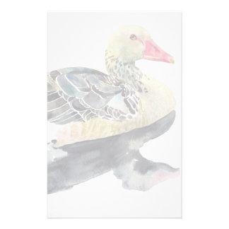 Pájaro de la acuarela del drenaje de la mano, pato papeleria personalizada