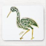Pájaro de la caligrafía (cigüeña) alfombrilla de raton