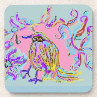 Pájaro de la canción posavasos de bebidas