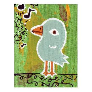 Pájaro de la canción postal