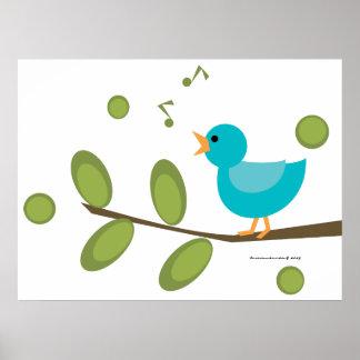 Pájaro de la Cantar-uno-Canción Póster