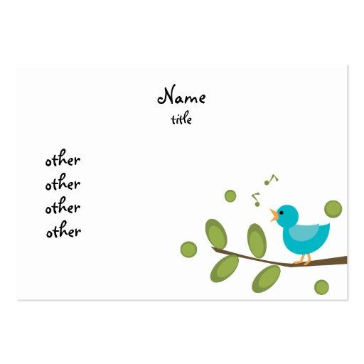Pájaro de la Cantar-uno-Canción Tarjetas De Visita Grandes