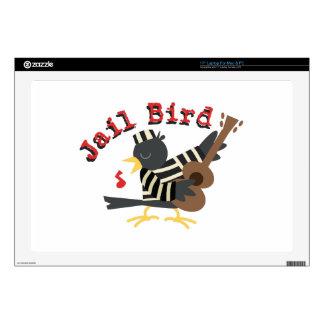 Pájaro de la cárcel calcomanía para portátil