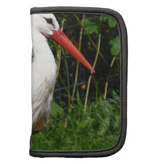 Pájaro de la cigüeña blanca organizadores