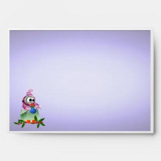 Pájaro de la decoración del navidad de la tarjeta