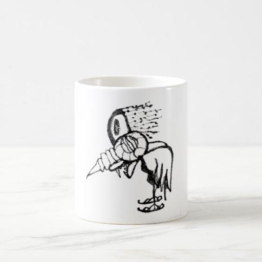 Pájaro de la fantasía taza de café