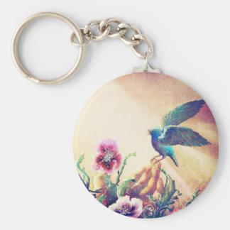 Pájaro de la fe llavero redondo tipo pin