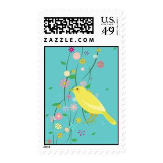 pájaro de la flor sellos