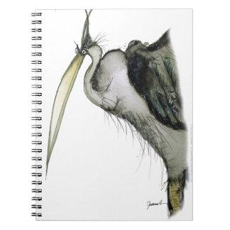 pájaro de la garza, fernandes tony cuaderno