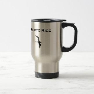 Pájaro de la guerra de O del hombre de Puerto Rico Taza Térmica