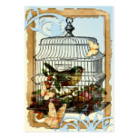 Pájaro de la jaula tarjeta de visita