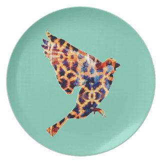Pájaro de la jirafa plato para fiesta