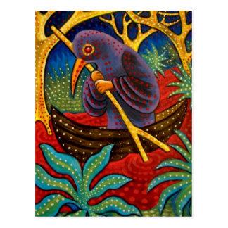 pájaro de la medicina tarjeta postal