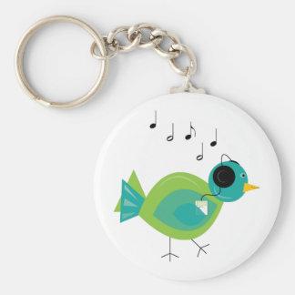 Pájaro de la música llaveros