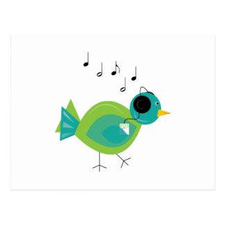 Pájaro de la música tarjetas postales