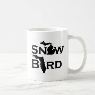 Pájaro de la nieve taza de café