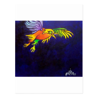 Pájaro de la noche postal