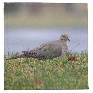 Pájaro de la paloma servilleta