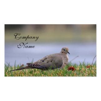 Pájaro de la paloma tarjetas de visita