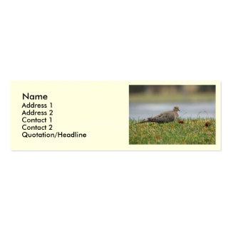 Pájaro de la paloma tarjetas de visita mini