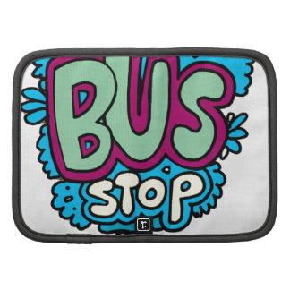 Pájaro de la parada de autobús planificador