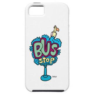 Pájaro de la parada de autobús iPhone 5 Case-Mate fundas