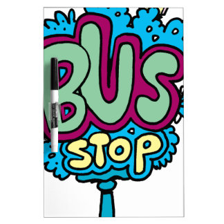 Pájaro de la parada de autobús tableros blancos