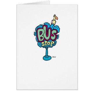 Pájaro de la parada de autobús felicitación