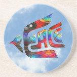 Pájaro de la paz posavasos personalizados