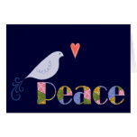 Pájaro de la paz tarjeta de felicitación