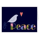 Pájaro de la paz tarjetas