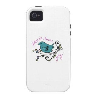 Pájaro de la paz vibe iPhone 4 carcasa