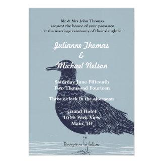 Pájaro de la playa invitación 12,7 x 17,8 cm