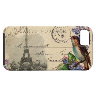 Pájaro de la postal de París en el caso de las lil iPhone 5 Case-Mate Cárcasa