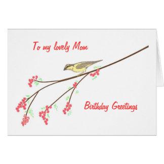 Pájaro de la primavera de la mamá de Greetingsto d Tarjeta De Felicitación