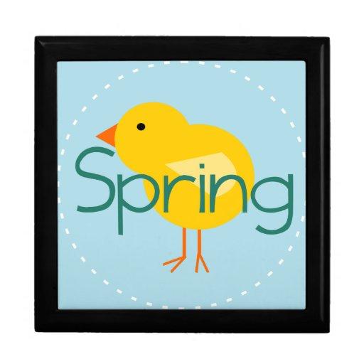 Pájaro de la primavera del dibujo animado caja de joyas