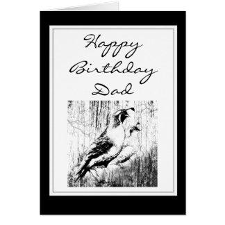 Pájaro de las codornices de California del vintage Tarjeta De Felicitación